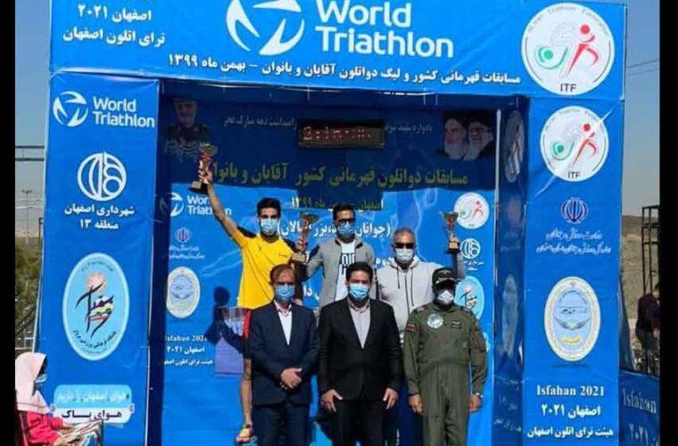 کسب مقام سوم مسابقات دواتلون کشور توسط آذربایجان شرقی
