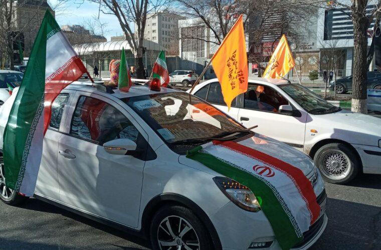 تصاویری از راهپیمایی خودرویی و موتوری ۲۲ بهمن شهر تبریز  عکس :ناصر غلامی هوجقان