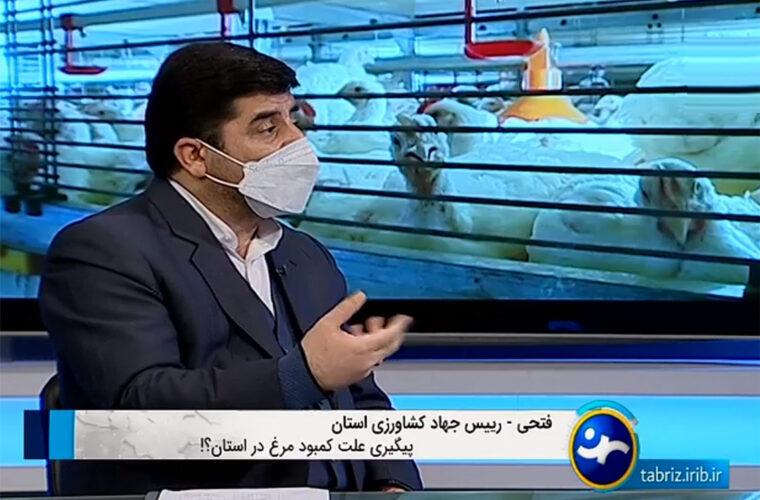 کمبود مرغ در استان به دلیل عدم نظارت کافی در توزیع می باشد
