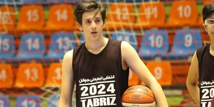 بسکتبالیست نوجوان  تبریزی در مسابقات انتخابی مهارتهای فردی آسیا