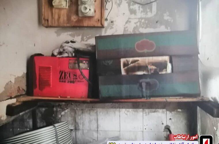 آتش سوزی کارگاه برش کارتن در تبریز با واکنش سریع آتش نشانان اطفا حریق شد