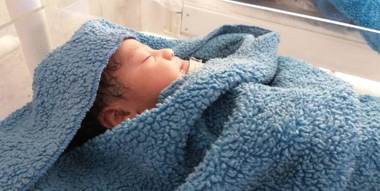 نوزاد رها شده در تبریز در بخش مراقبتهای ویژه بیمارستانی بستری شد