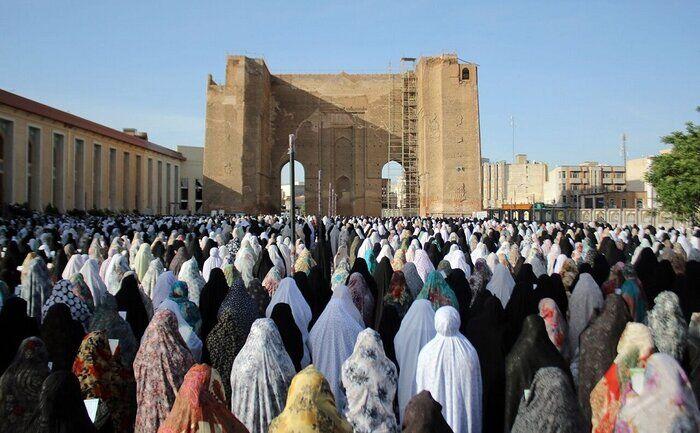 نماز عید فطر در تبریز برگزار شد