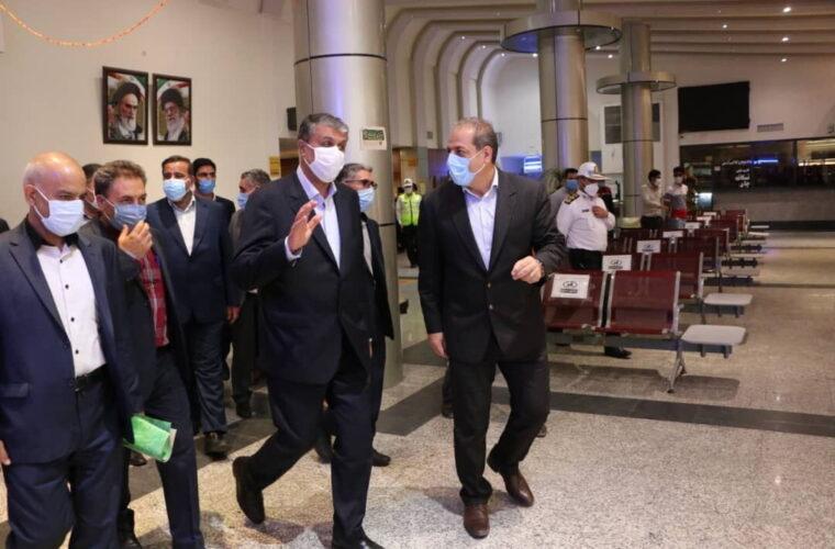 وزیر راه و شهرسازی از پایانه مرزی نوردوز بازدید کرد