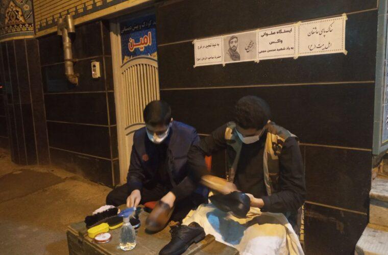 """برپایی ایستگاه """"واکس صلواتی"""" در پایگاه بسیج مسجد حضرت موس بن جعفر (ع)شهرک رازی تبریز +تصاویر"""