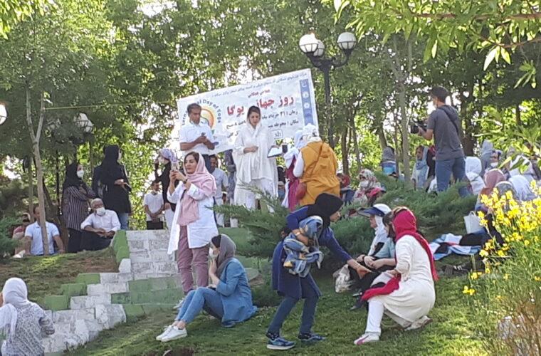 علاقمندان به یوگا در ایل گلی جمع شدن+عکس