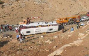 نیروی انتظامی علت سانحه اتوبوس خبرنگاران و سرباز معلمان را اعلام کرد
