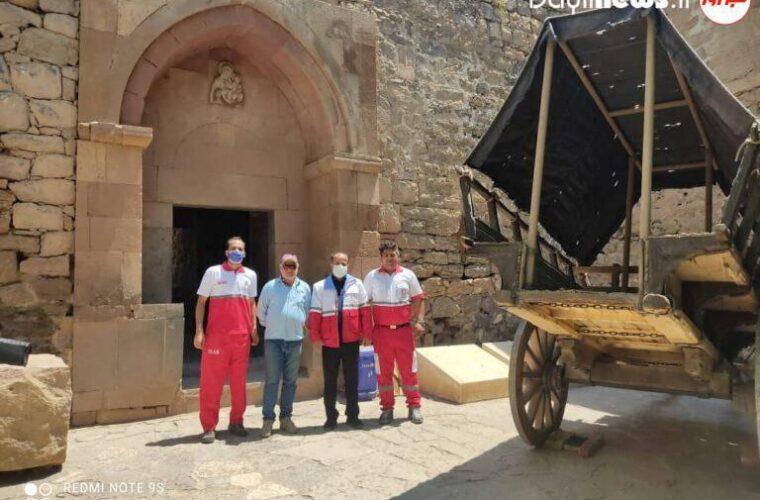 پشتیبانی سریال در حال ساخت سلمان فارسی توسط امدادگران هلال احمر جلفا