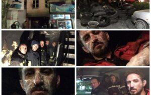 آتش سوزی در زیرزمین انبار تایر خودرو/پنج نفر از نیروهای آتش نشانی مصدوم شد/آتش مهار شد